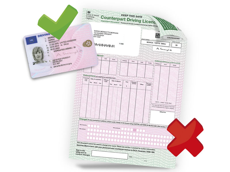 Abolition of the counterpart driving licence