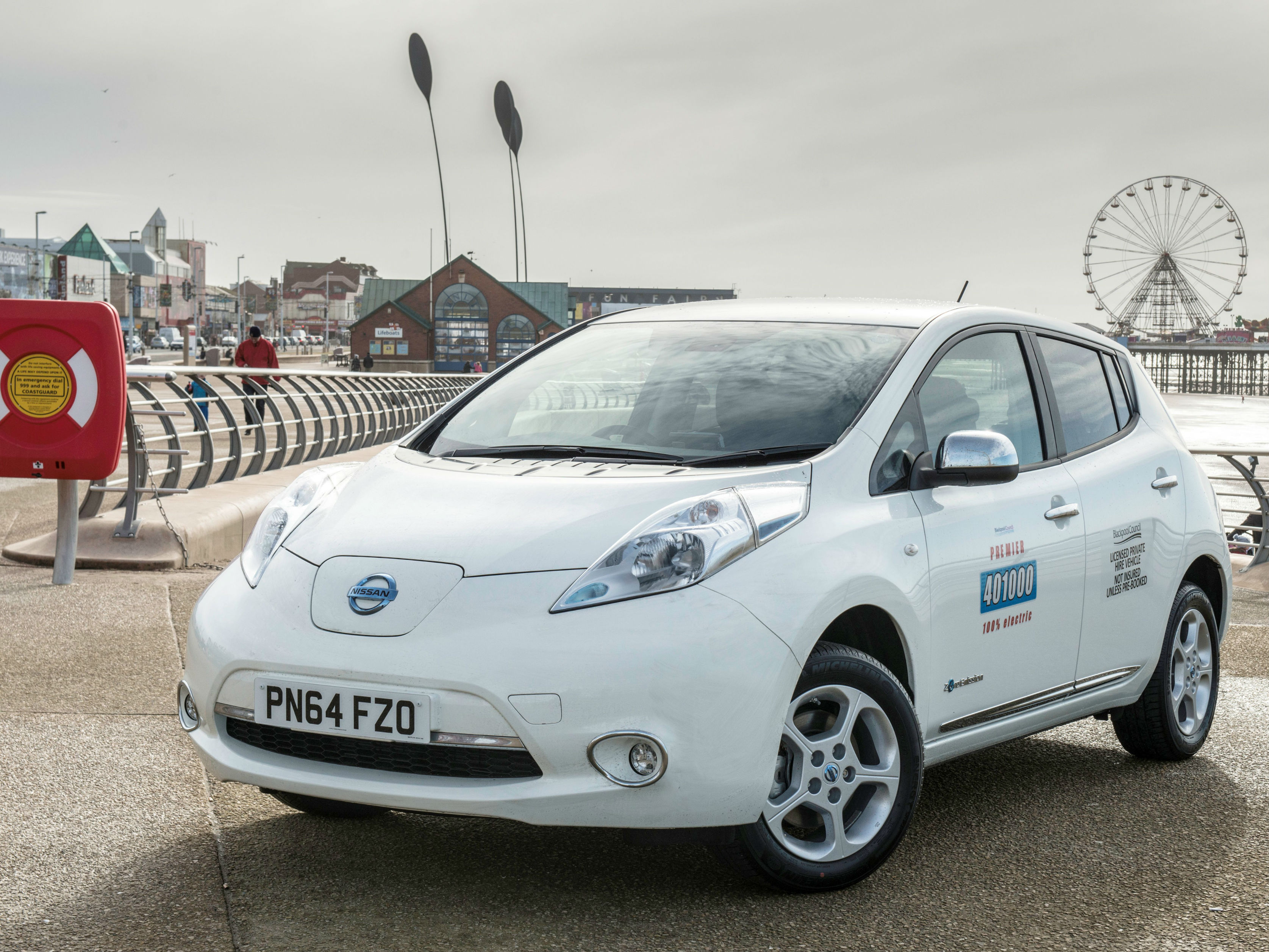 Nissan LEAF Taxis lead Blackpools second Electric Transport Revolution 63663