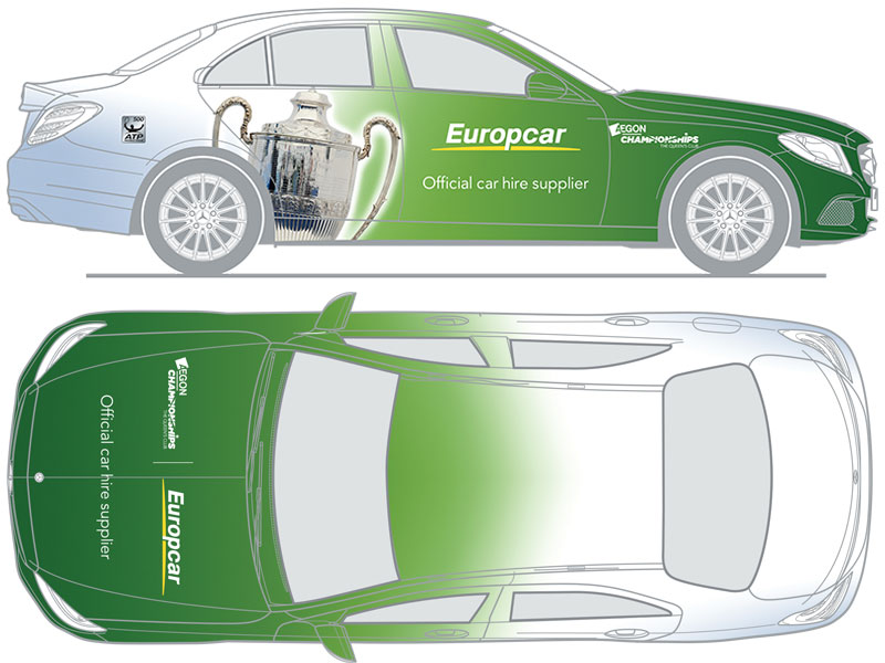 LEADING car hire supplier, Europcar will be providing the wheels to get the world's tennis stars to top tennis tournaments