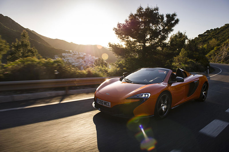McLaren is offering lexible finance products to UK customers