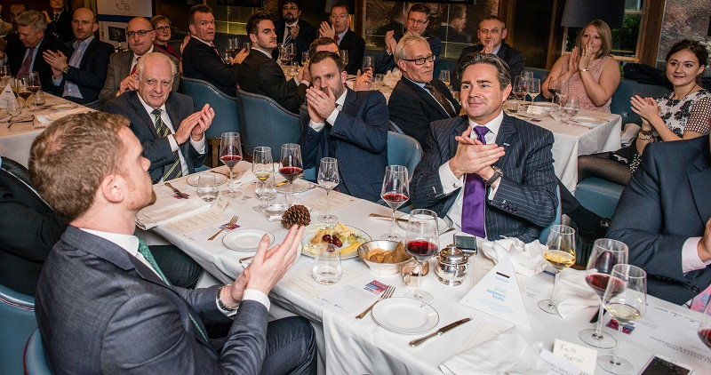 Guests applaud at the Small Fleet Leasing Awards held at Corrigans in Mayfair
