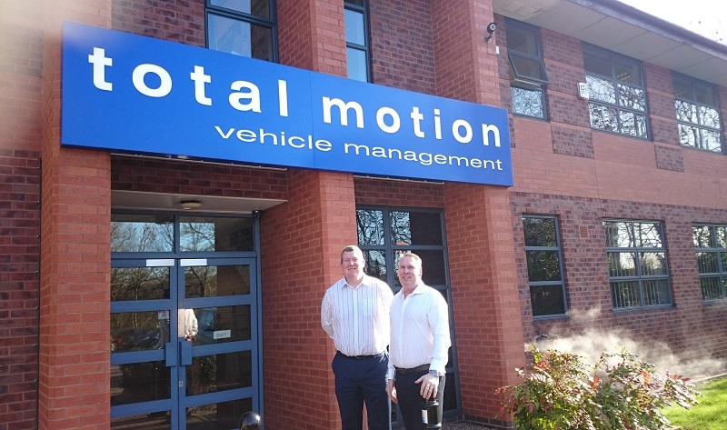 Simon and Andy outside Total Motion
