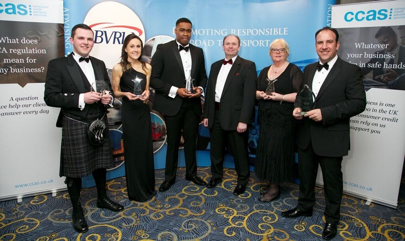 Award winners at the BVRLA dinner