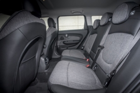 Roomy rear seats three