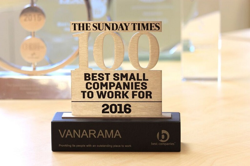 vanarama best co award