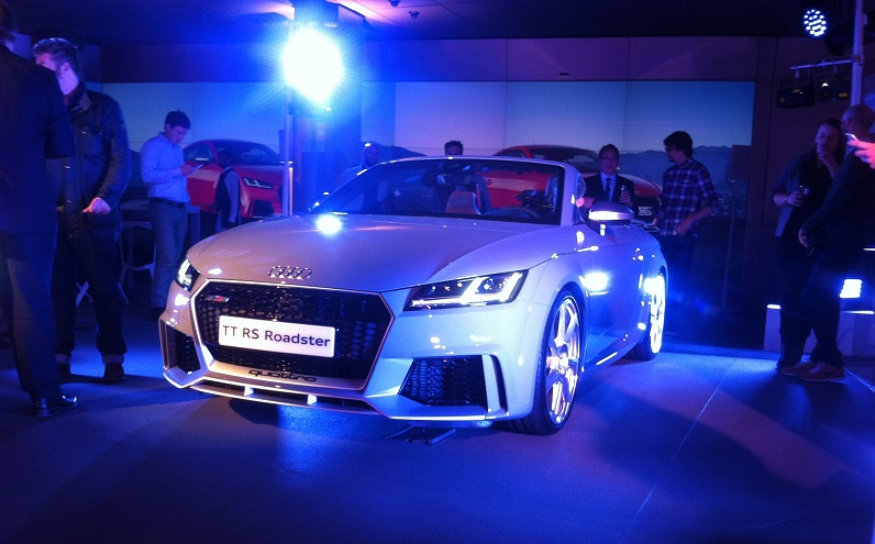 Audi TT RS Roadster makes its world debut at Audi City launched by Dany Garand