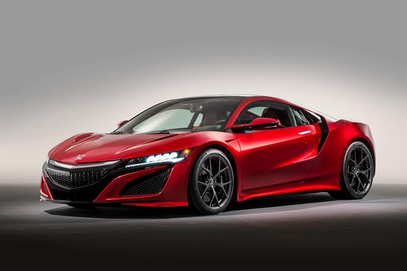 The new Honda NSX making its action debut at Goodwood Festival of Speed. Button will give Honda NSX its action debut