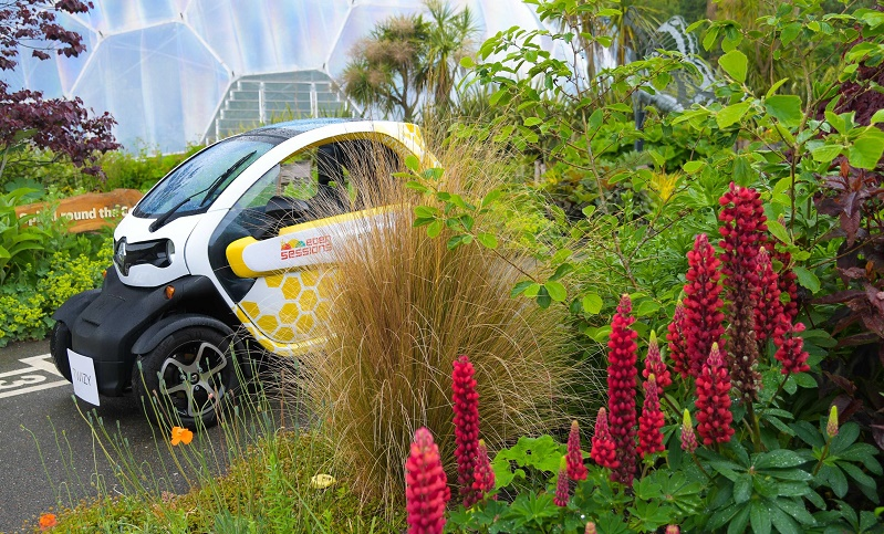 ZOE, Twizy and Kangoo Renault electric vehicles for Eden Project