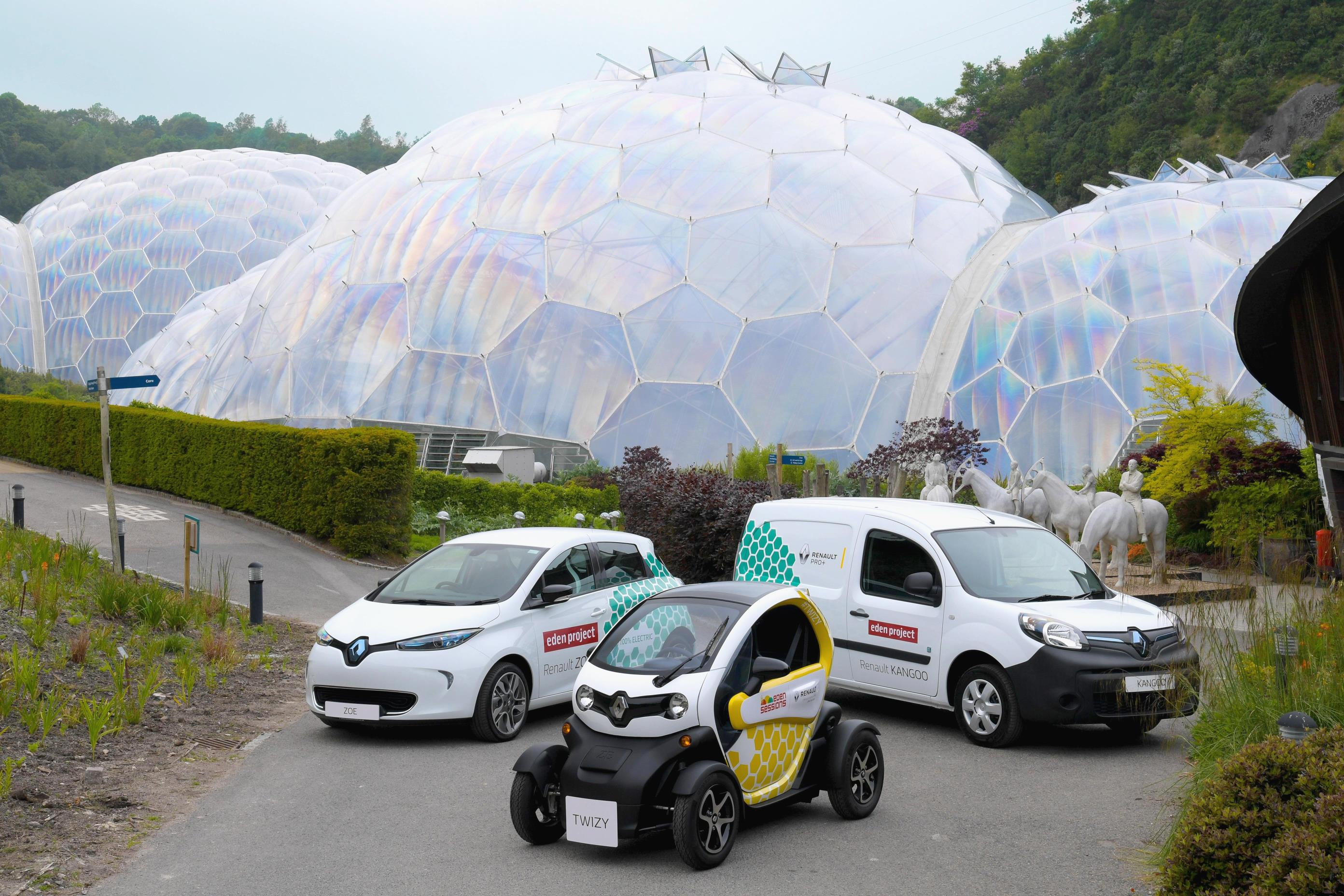 Renault EVs Zoe Twizy at The Eden Project
