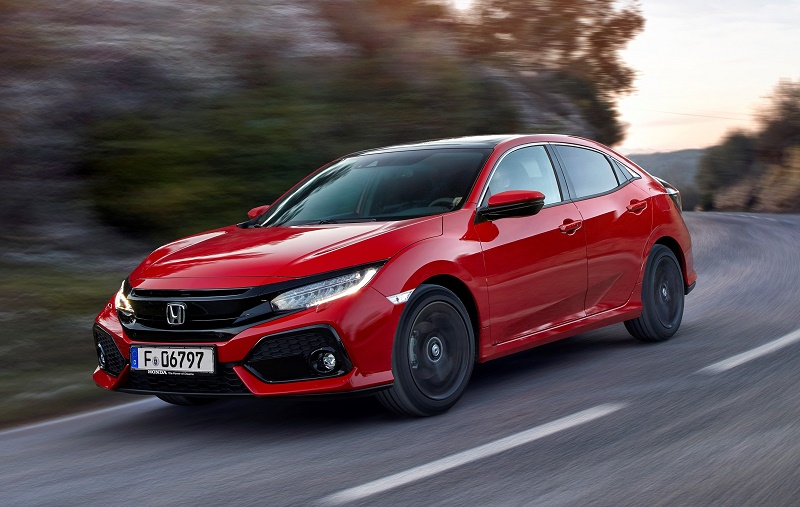 Honda Civic 2017 front dynamic