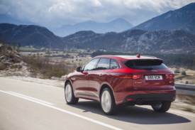 Jaguar F-Pace for business rear view moving