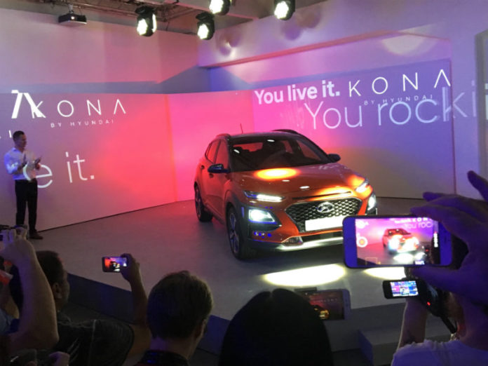 Hyundai Kona at Milan reveal