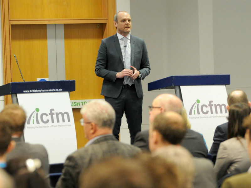 ICFM chairman Paul Hollick addresses Conference about the challenges facing fleet