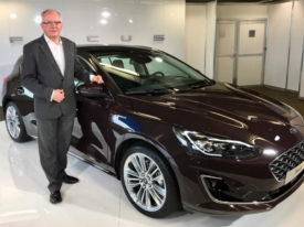 Andy Barratt with new Ford Focus Vignale