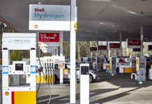 Hydrogen pump under the canopy at Shell Beaconsfield