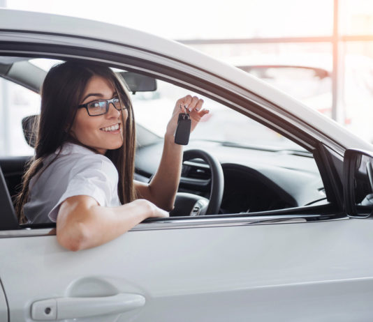 Woman with a Full Personal Lease vehicle from Lookers Leasing