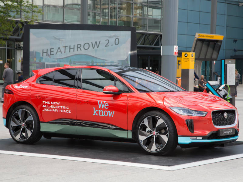 200 car electric jaguar i pace fleet for heathrow for Airport motor mile used cars