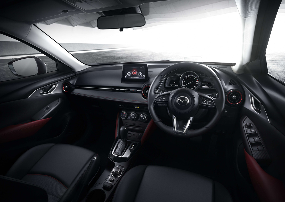 Well-crafted and appointed interior of the Mazda CX-3