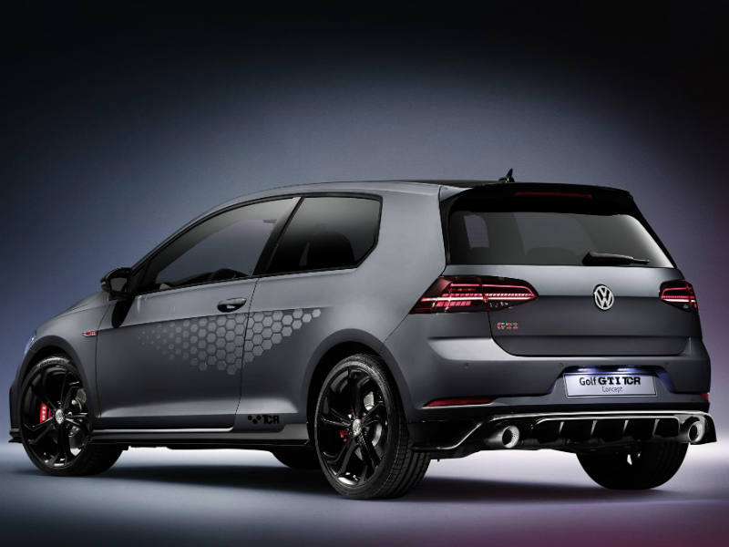 The new Volkswagen Golf GTI TCR Concept rear