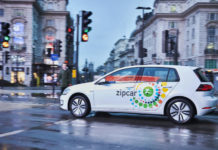 Volkswagen e-Golf and Zipcar