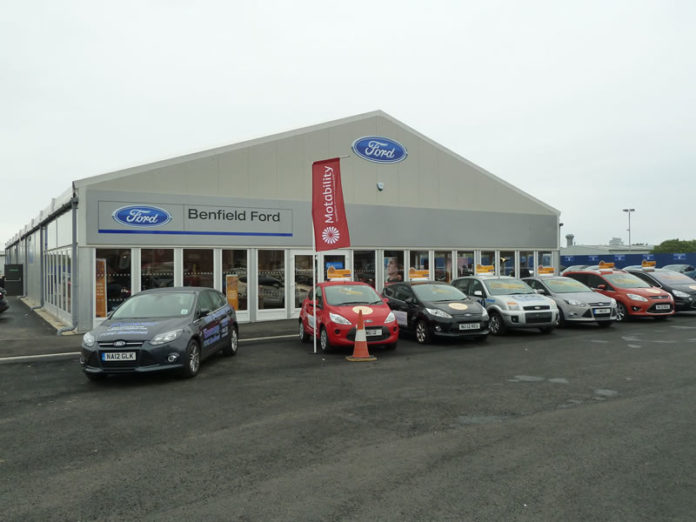 Benfield Ford showroom built by Smart spaces