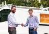 Ryan Godfrey (left), newly appointed head of vComms, with vGroup International managing director James Nash