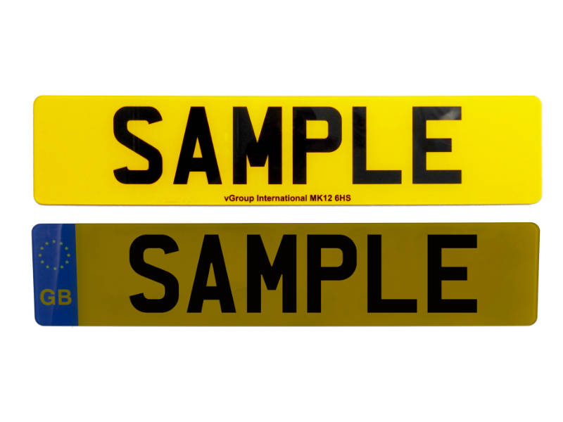 Displaying the reflectivity of the new vPlate number plate