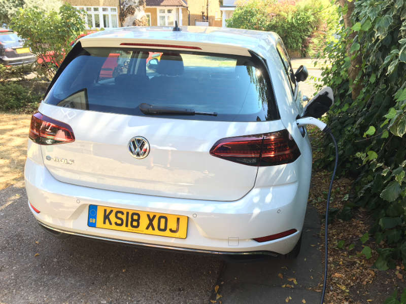 VW e Golf charging for Business Motoring Week
