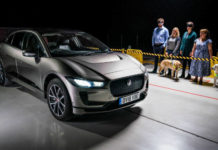 Jaguar I Pace with audible warning system