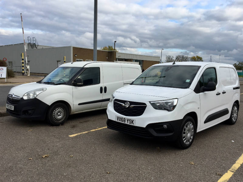 Vauxhall Combo old and new