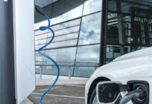 BMW 330e phev at charge point