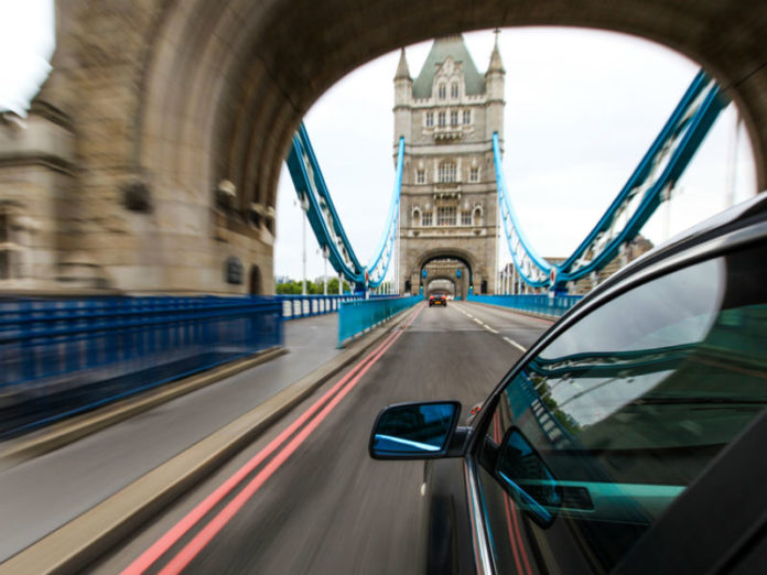 Car driving within the London ULEZ zone