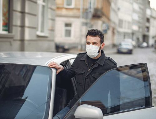 Wearing a face covering while driving? Beware the distractions